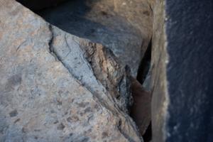 detaljfoto av stein